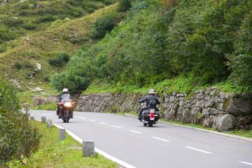 Motorradfahrer auf der Silvretta-Hochalpenstraße
