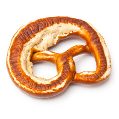 Pretzel isolated on a white studio background.