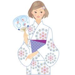 女性 着物 浴衣