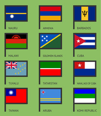 Flags flat set-13