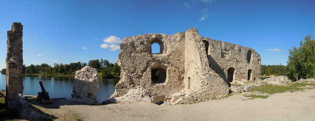 Remains of old castle (Koknese, Latvia)