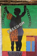 île de Gorée (Sénégal) dessin libération esclavage