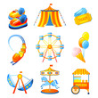 Amusement Park Icons Set - 64621578