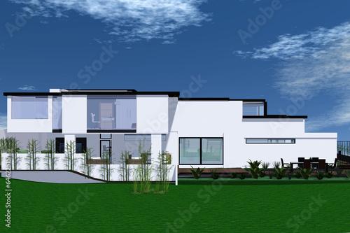 canvas print picture Ansichten einer modernen Villa