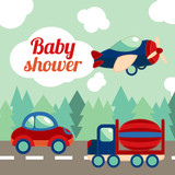 Baby shower toy transport card - 64622909