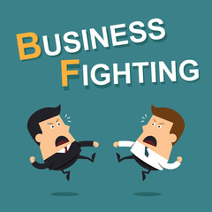 Business fighting, Business concept