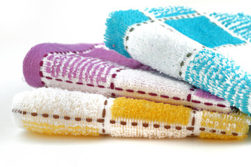 .three different color towel