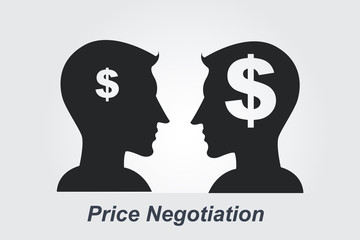 Price Negotiation concept