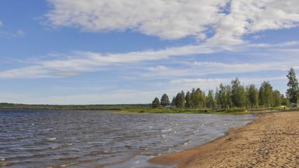 Lulea, Dorf, Küste, Campingferien, Sommer, Schweden