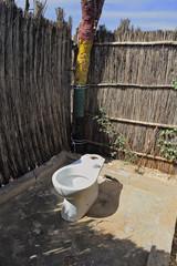 toilettes WC extérieur Afrique