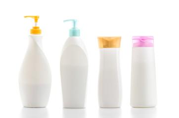 Plastic bottle isolated white background
