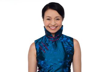Sensual pretty chinese woman posing