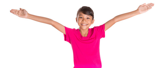 Young Asian Malay girl in pink tshirt