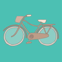 bicycle, retro illustration bicycle, vintage bicycle