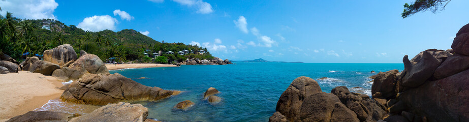 Rocky coastline on Samui Island