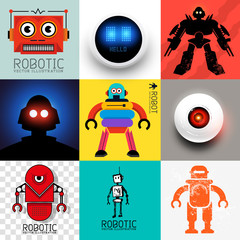 Vector Robot Collection