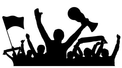 Fans Fussball Pokal
