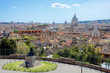 Rome, skyline from Pincio, Italy