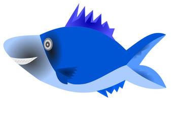 mavi renkli balık