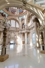 Affreschi nel museo dell'arte catalana, Barcellona, Spagna