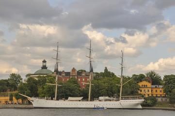 Stockholm, Altstadt, Segelschiff, Skeppsholmen, Schweden