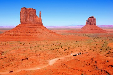 Famous Wild West view over Monument Valley, Arizona, USA