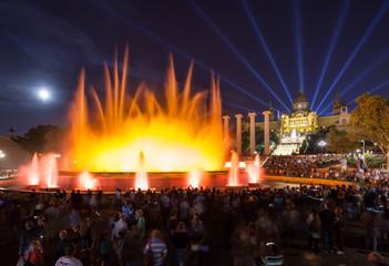 Fontana Magica e museo dell'arte catalana, Barcellona