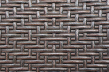 Rattan furniture woven pattern.