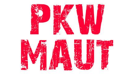 PKW-Maut rot