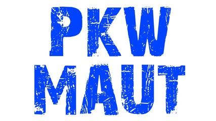 PKW-Maut blau
