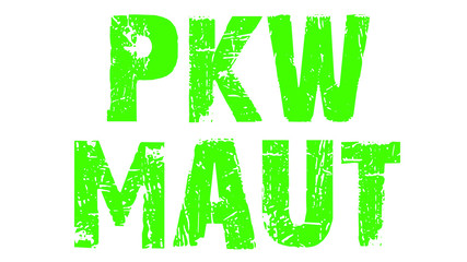 PKW-Maut grün