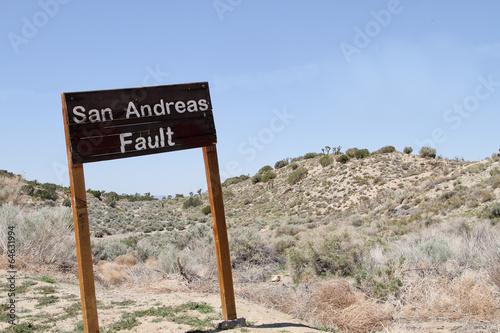 Leinwanddruck Bild San Andreas Fault