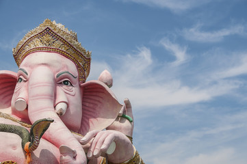 Ganesh statue.