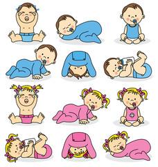 Ilustracja wektorowa chłopców i dziewczynek