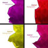 Fototapety Set of  abstract modern style backgrounds