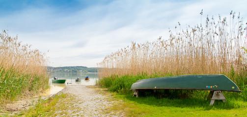 Fischerboote auf der Insel Reichenau