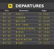 Airport board print - 64634358