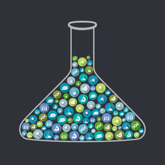 Science beaker concept