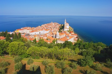 View from castel on the village Piran, Slovenia