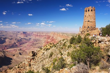 Grand Canyon, view of the Indian watchtower, Arizona