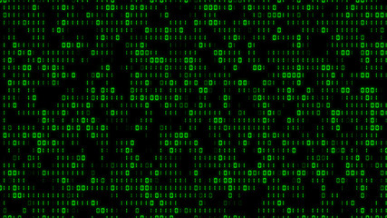 Cool Digital Binary Matrix Effect