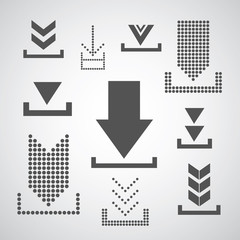 Vector download icon