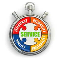 Service puzzle on white background.