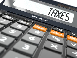 Concept of taxes calculation, Calculator