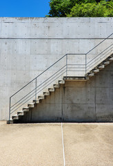 Stairs rendered on the wall