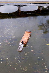 boat in the river miniature