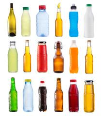 set of various bottles