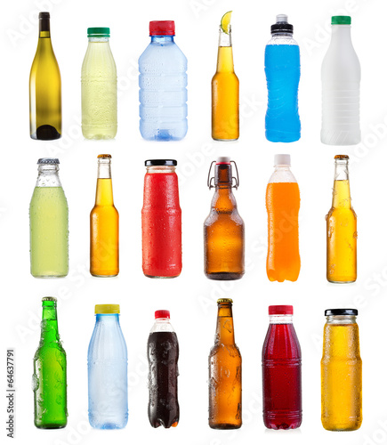 set of various bottles - 64637791
