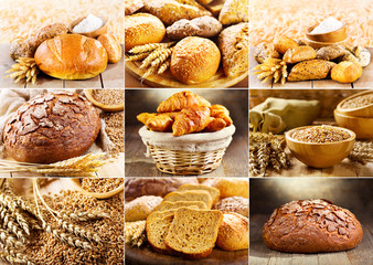 various fresh bread