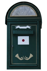 isolated oldfashioned mail box in tallinn